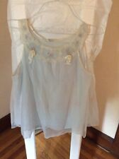 VTG   Best & co blue baby doll  night gown with bloomers  size small B7d