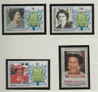 BEQUIA /GREN St.VINCENT 1986 60TH BIRTHDAY QUEEN ELIZABETH II,SPECIMEN SET +S/S