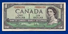 1954 Canada Canadian One 1 Dollar Bill prefix G/F Note Crisp Au-Unc