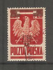 Polen Briefmarken 1945 Freimarke mit Überdruck Mi.Nr. 409a gestempelt geprüft