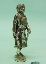 Fine Vintage Silver Plated Blacksmith Miniature Figural Figurine