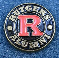 Rutgers Alumni Black Red Lapel Pin New Jersey College University Scarlet Knights