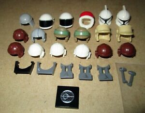 Lot Of 26 LEGO Star Wars Headgear & Accessories: Hoth/ Trooper Helmets, Antennas