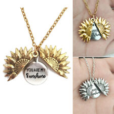 Creative ''You Are My Sunshine'' Letter Print Sunflower Pendant Chains Necklace