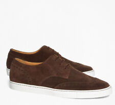 Men Brooks Brothers suede Wingtip Lace Up Sneakers Brown (RUNS SMALL SEE DESC.)