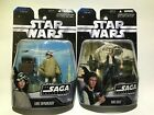 Star Wars The Saga Collection Luke Skywalker & Han Solo Action Figures NIB