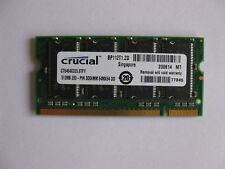 2 x 512MB = 1GB DDR333 PC2700 Laptop memory RAM PC2100 SODIMM Samsung Kingston