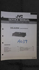 JVC ks-a204 service manual original repair book stereo power amp amplifier