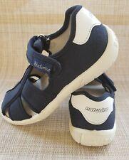 Girls NATURINO Black Canvas Fisherman Sandal Shoes Size 30
