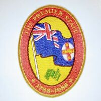 Vintage 1988 Australian Bicentenary Patch - The Premier State 1788-1988
