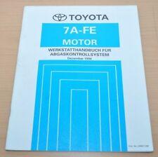 Toyota Motor 7A-FE Abgaskontrolle 1994 Werkstatthandbuch Reparaturanleitung