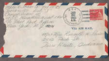 1965 cover Mike D Snow Tacron 21 US Navy USS Guadalcanal LPH-7 to Terre Haute IN