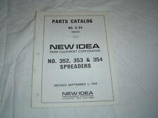 New Idea 352 353 354 manure spreader parts catalog manual