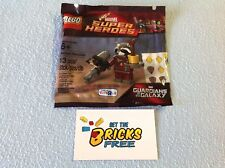Lego Super Heroes Polybag 5002145 Rocket Raccoon New/Sealed/Retired/Hard to Find