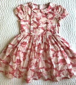 Adorable MINI BODEN Pink UNICORN DRESS size 6-7 EUC Cotton Short Sleeves