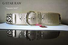 PLAYBOY Gürtel*Belt PL4330*Bunny Metall Schnalle*gold*6,5cm breit*Gr.S/75cm *NEU