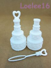 48 x WEDDING CAKE BOTTLE BUBBLES - WEDDING PARTY FAVOR - NEW YEAR PROP