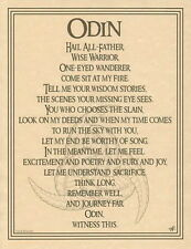 ODIN POSTER NORSE GOD Wicca Pagan Witch Goth A4 SIZE PAGE FOR BOOK OF SHADOWS