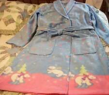 Girls Bathrobe sz XL14-16 GIRL CONNECTION Blue & Pink w/Polar Bears NEW