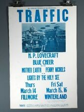 Traffic, Blue Cheer, Mother Earth, Vintage Poster  1968