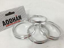 4 Aodhan Aluminum Hubrings   57.1mm Car Hub to 73.1mm Wheel Bore   ID 57   OD 73