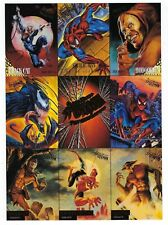 1995 Fleer Ultra SPIDER-MAN trading cards - 9 card uncut PROMO sheet.