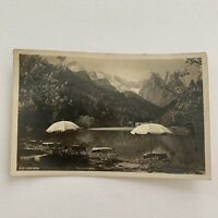 Antique Vintage RPPC Real Photograph Postcard Waxenstein Germany 1927 Lake