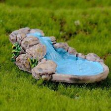 Azul Lindo Mini Jard/ín de Hadas Ornamento Miniatura Estanque de Loto Micro Paisaje Bonsai decoraci/ón DIY