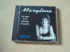 CD MARYLENE au coeur de la chanson française