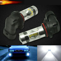 2*100W 9006 HB4 LED Car Fog HeadLight Lamp Globe DRL Driving Bulb White 6000K