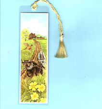 Handmade Bookmark Plowing Ox Farmer Farm Pheasant Bird David Thoreau Xmas Gift