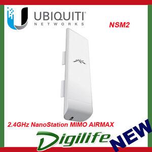 Ubiquiti Nanostation NSM2 M2 802.11b/g/n MIMO Antenna, WiFi Outdoor CPE, 13+KM