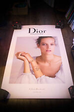 DIOR DEMARCHELIER  4x6 ft Bus Shelter Original Fashion Advertising Poster 2016