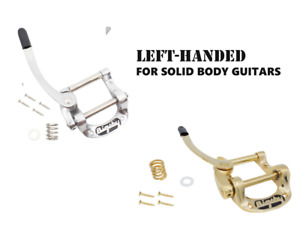 Left-Handed  Bigsby B5 Aluminum Vibrato for Solid-Body Guitars Silver or Gold