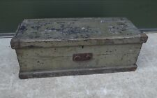 Antique Victorian Painted Pine Tool or Equipment Box Chest Trunk - Needs TLC