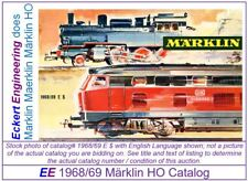 EE C68N NEW Marklin HO Catalog 1968 / 1969 E $