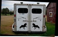 """2 LARGE 12.5"""" WALKING HORSE STICKERS MIRRORED TENNESSEE WALKER DECAL HORSE Show"""