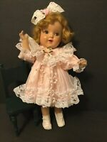 "Pink Satin & Lace Baby Doll Dress/ White Boots/ Hair Bow for 16""-20"" Doll (P2)"