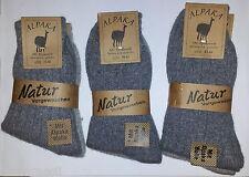 2 Pair Alpaca Socks 92%25Alpaca Wool Thin Knitted Size 35-46 Grey Tones