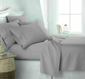 Luxury Fitted Sheet 25cm & Extra Deep 16''/40cm Bed Sheet Hotel Quality Easy Car