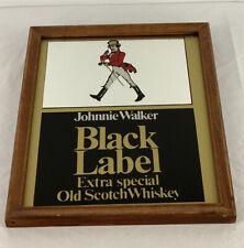 """Johnnie Walker Black Label Vintage Bar Mirror 8 3/4"""" X10 3/4"""""""