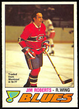 1977 78 OPC O PEE CHEE #281 JIM ROBERTS NM MONTREAL CANADIENS BLUES HOCKEY CARD