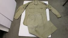 Korean Era US 21st Army Corps Khaki Uniform Shirt Chino Button Fly Trousers Pant