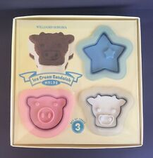 NEW Williams Sonoma Pig Star Cow Ice Cream Sandwich Maker Mold Farm Animals