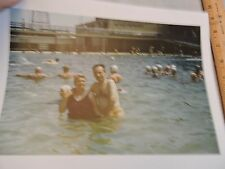 1956 Steeplechase Pool Coney Island Brooklyn New York City NYC Color Photo
