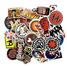 52Pcs Rock Music Band Sticker Musicians Park Decal Skateboard Car Luggage Laptop