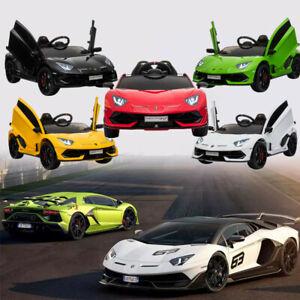 Kids Licensed Lamborghini Ride on Car Aventador SVJ 12V  Battery 2.4G Remote