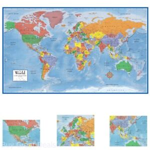 48x78In Huge Rolled World Map Poster Size Wall Decoration Large Map of The World