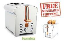 NEW Michael Graves Designs 2 slice Toaster vintage stainless steel chrome KT3390