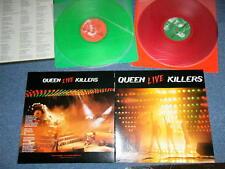 QUEEN Japan 1979 GREEN & RED Wax Vinyl NM 2-LP's LIVE KILLERS